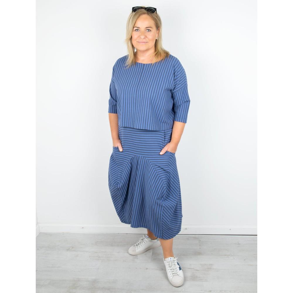 Thing Sara Stripe Skirt Sapphire