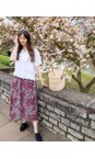 Amazing Woman Claret / Rose Santa Midi Skirt