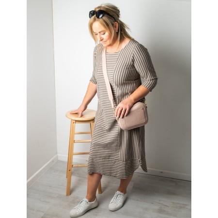Thing Tani Stripe Pannelled Dress - Beige