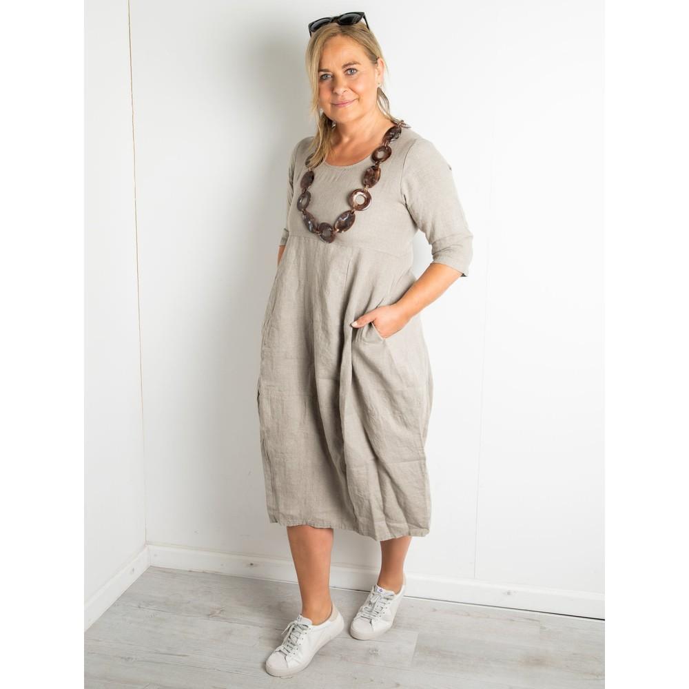 Thing Freya 3/4 Sleeve Linen Dress Linen
