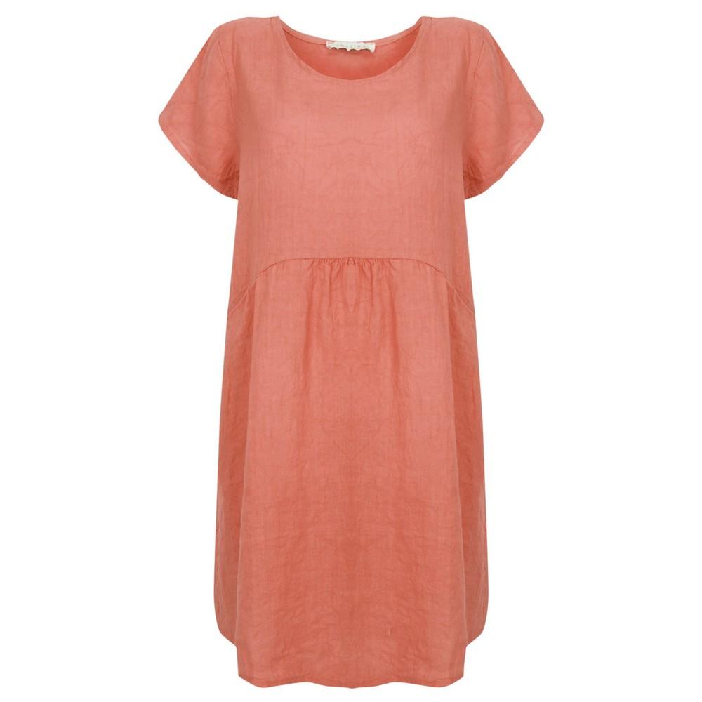 Amazing Woman Lexia Linen Dress  Russet
