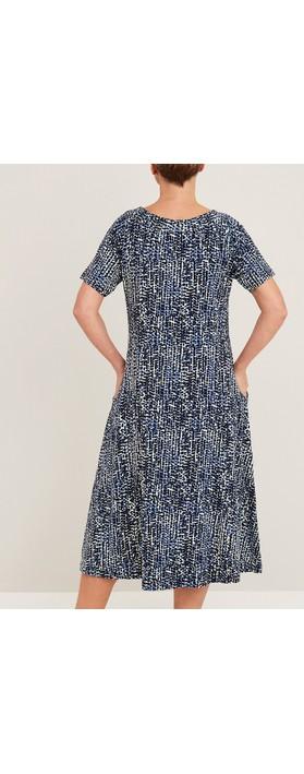 Adini Altair Double Spot Dress Navy