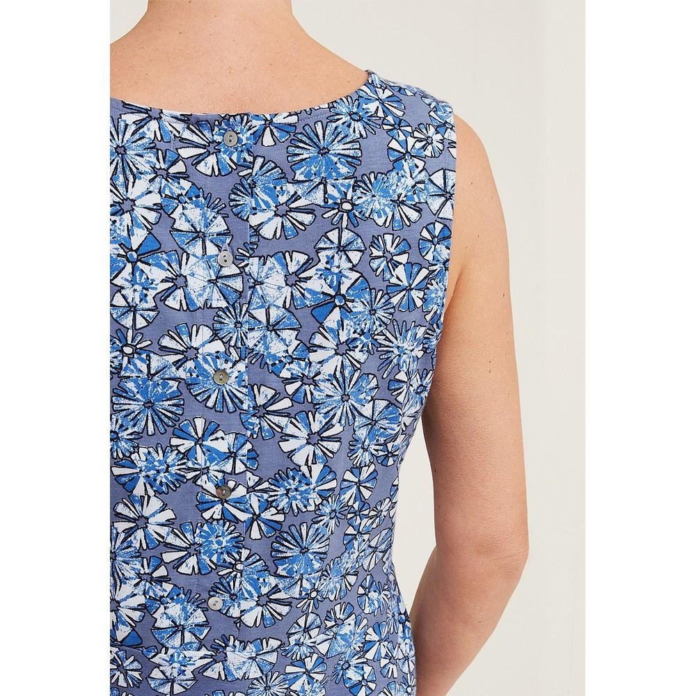 Adini Orchid Crosby Print Dress Indigo