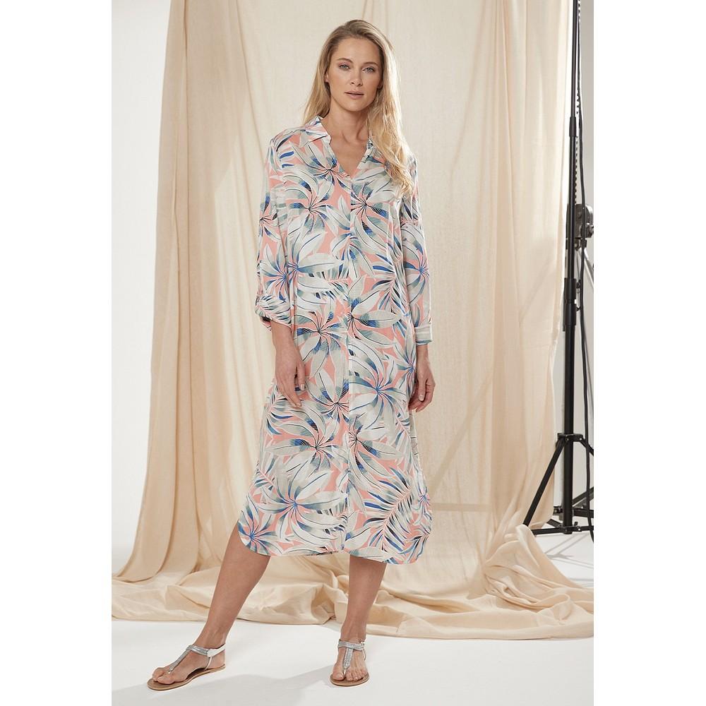 Adini Dominica Hothouse Print Dress Melon