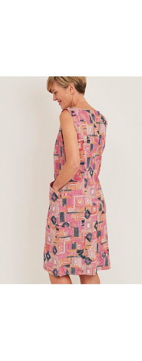 Adini Dona Piazza Print Dress Multi