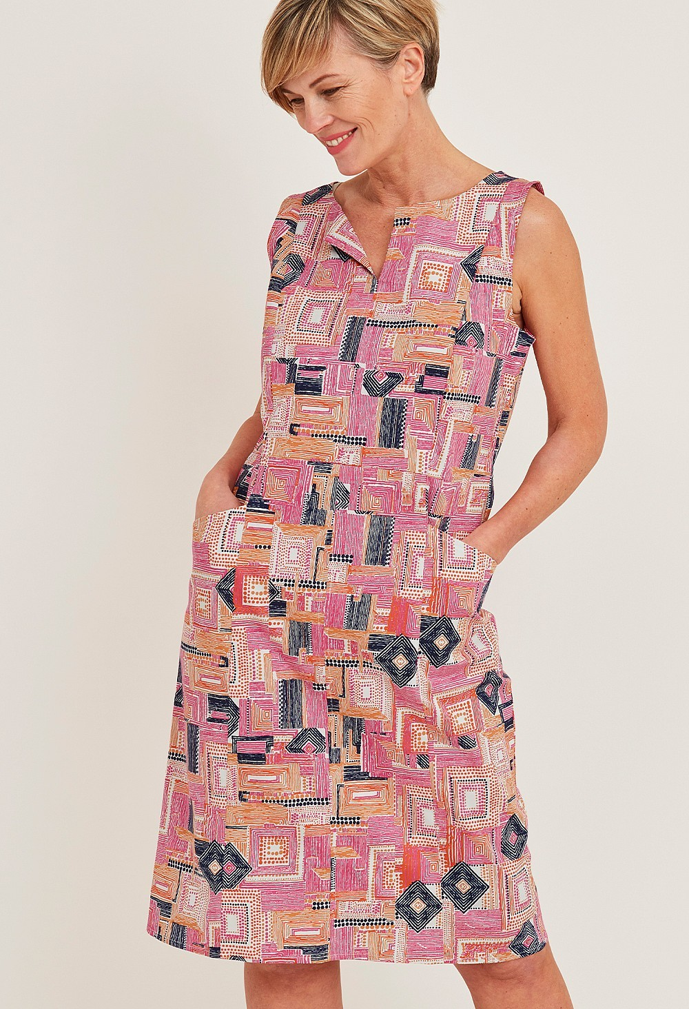 Dona Piazza Print Dress main image