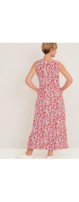 Adini Adele Lollipop Print Dress Flame