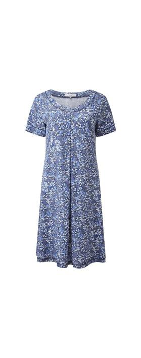 Adini Lily Crosby Print Dress Indigo