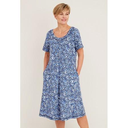 Adini Lily Crosby Print Dress - Blue