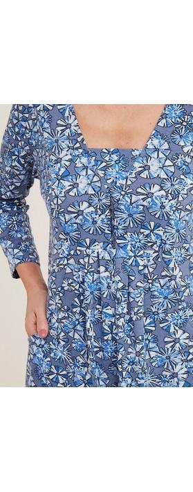 Adini Hyacinth Crosby Print Tunic Indigo