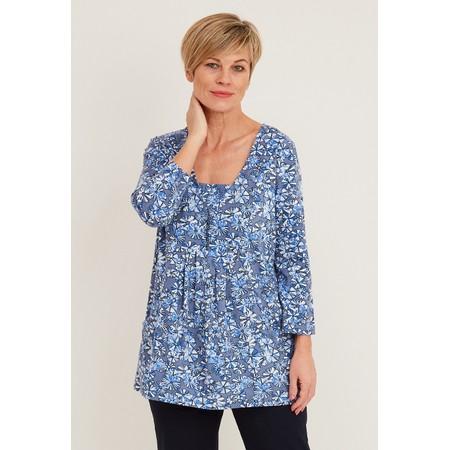 Adini Hyacinth Crosby Print Tunic - Blue