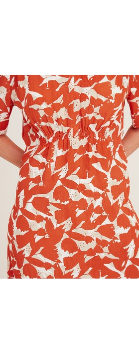 Adini Cuba Calypso Print Dress Flame
