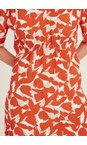 Adini Flame Cuba Calypso Print Dress