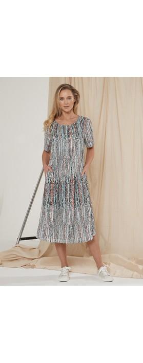 Adini Cressida Horizon Print Dress Multi