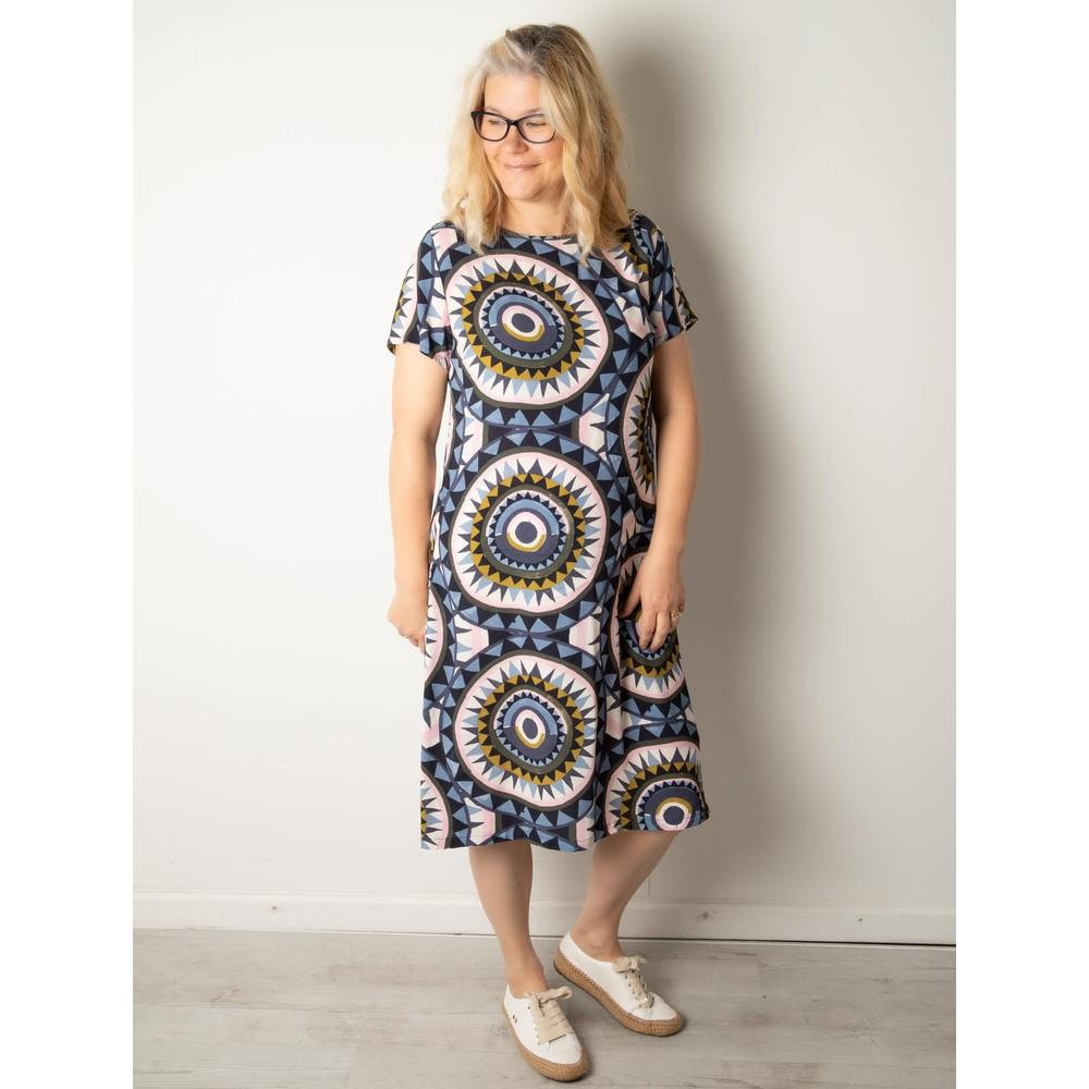 Foil New Beginnings Pleat Back Dress Sundial Mix