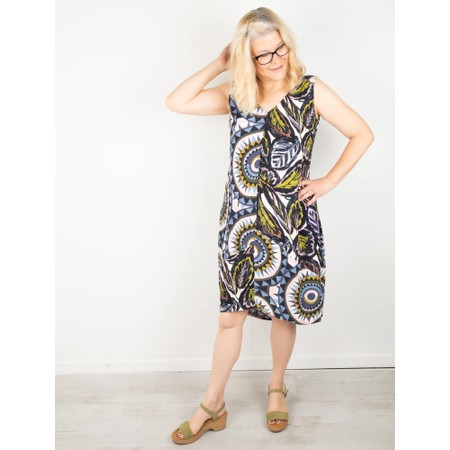 Foil Switching Sides Dress - Yellow