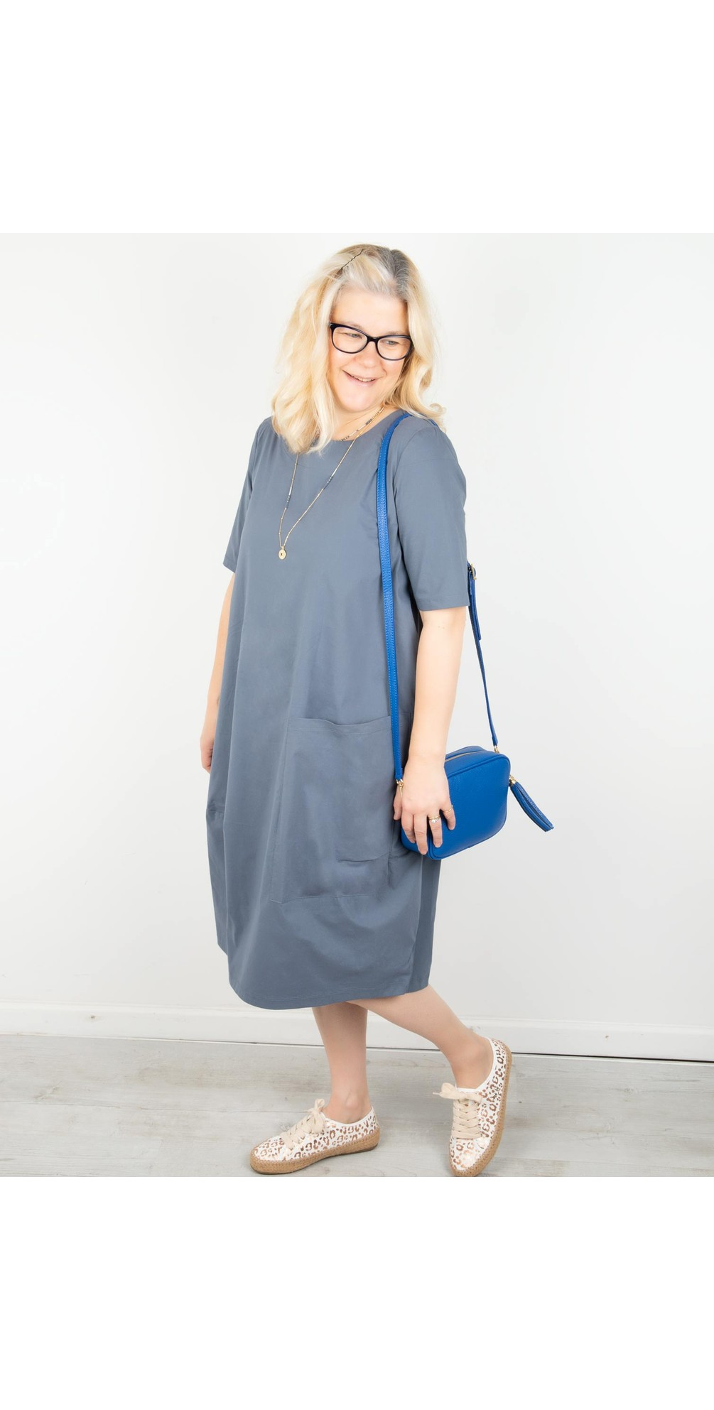 Deep Pockets Cocoon Hem Dress main image