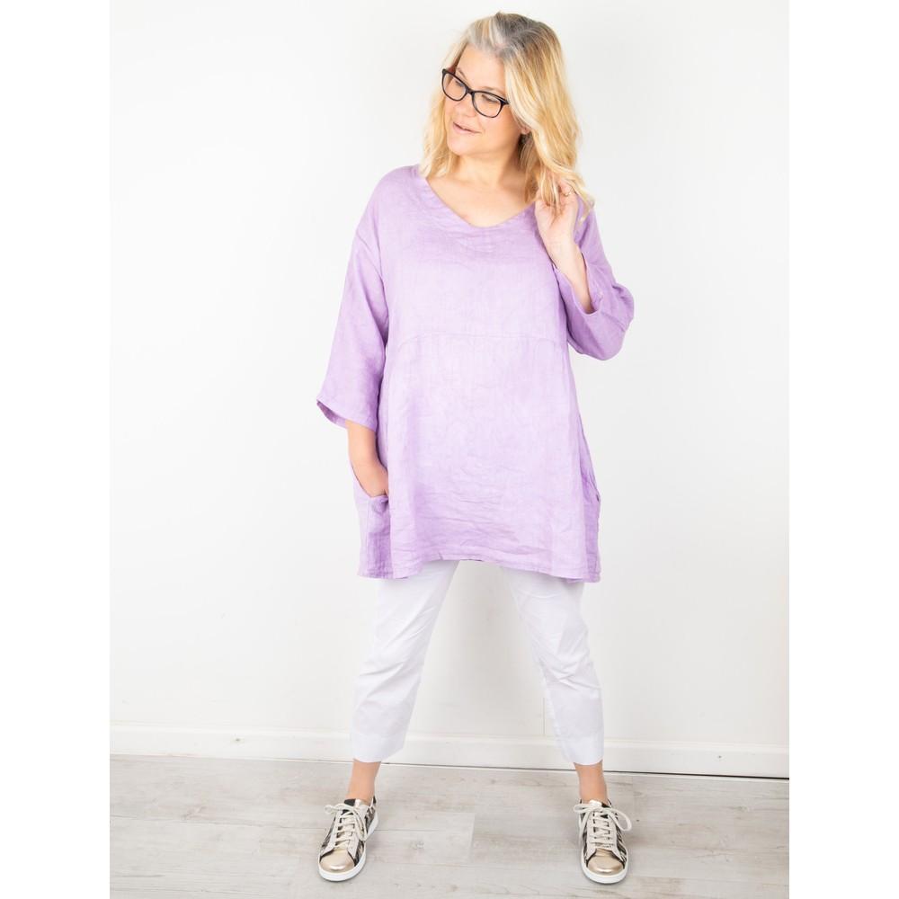 Amazing Woman Tesa V Neck Top Lilac