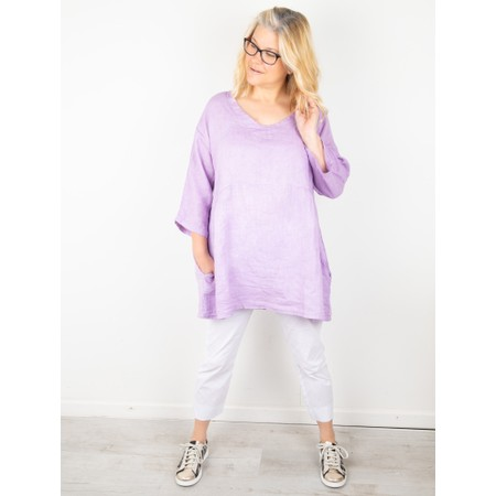 Amazing Woman Tesa V Neck Top - Purple