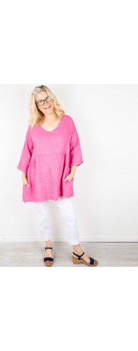 Amazing Woman Tesa V Neck Top Pink Confetti