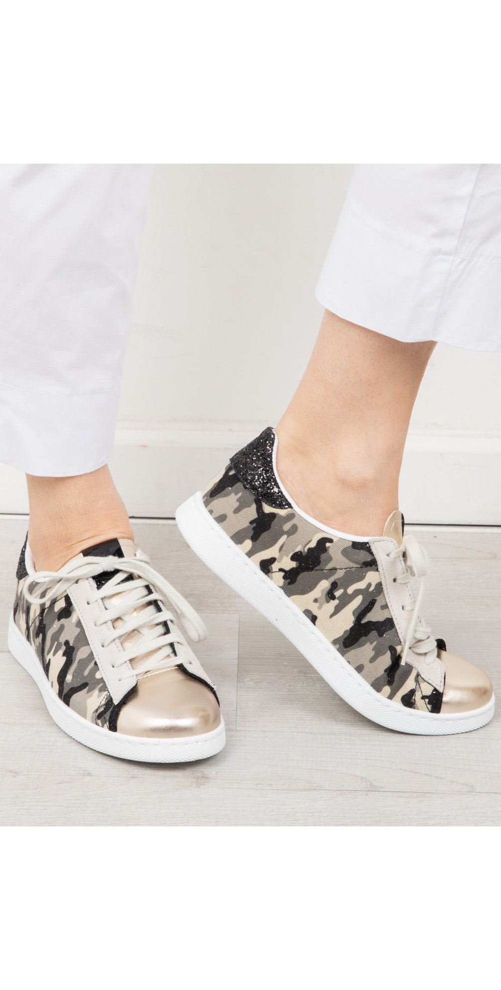 Tennis Recycled Cotton Camouflage Trainers main image