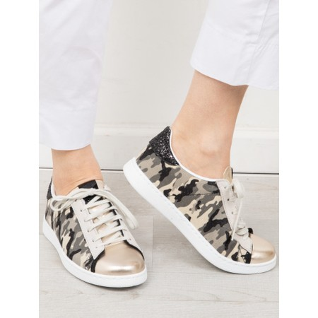 Victoria Shoes Tennis Recycled Cotton Camouflage Trainers - Green