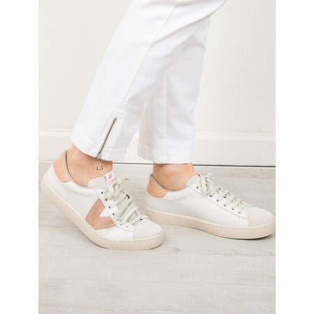 Victoria Shoes Berlin Classic Victoria V Leather Trainer - Beige