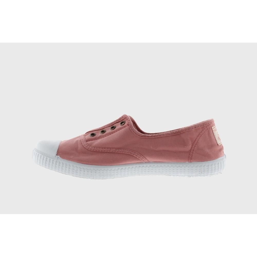 Victoria Shoes Dora Pink Organic Cotton Washable No Lace Pump Nude Pink 169