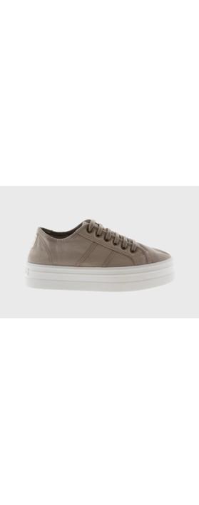 Victoria Shoes Barcelona Organic Cotton Washable Flatform Trainer Shoe  Beige 80