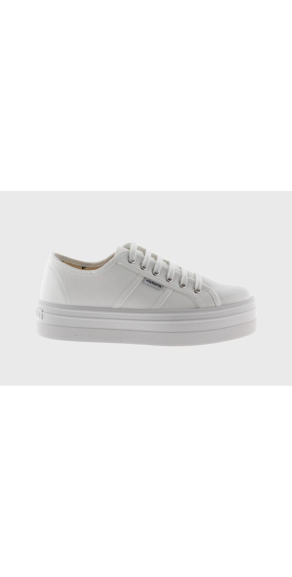 Barcelona Flatform Cotton Canvas Washable Sneaker main image
