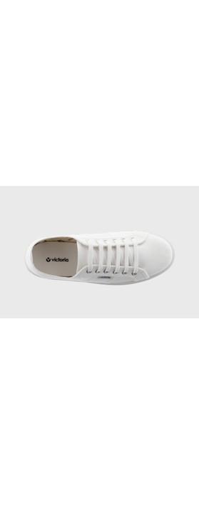 Victoria Shoes Barcelona Flatform Cotton Canvas Washable Sneaker Blanco White 20