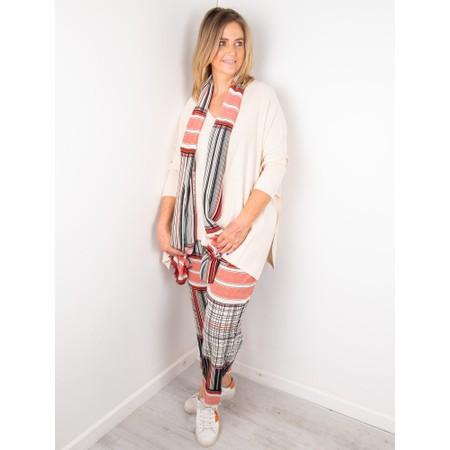 Masai Clothing Along Stripe Scarf - Red