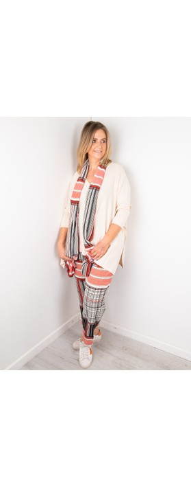 Masai Clothing Fosna Oversized Knit Whitecap