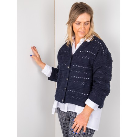 Masai Clothing Laurina Cotton Cardigan - Blue