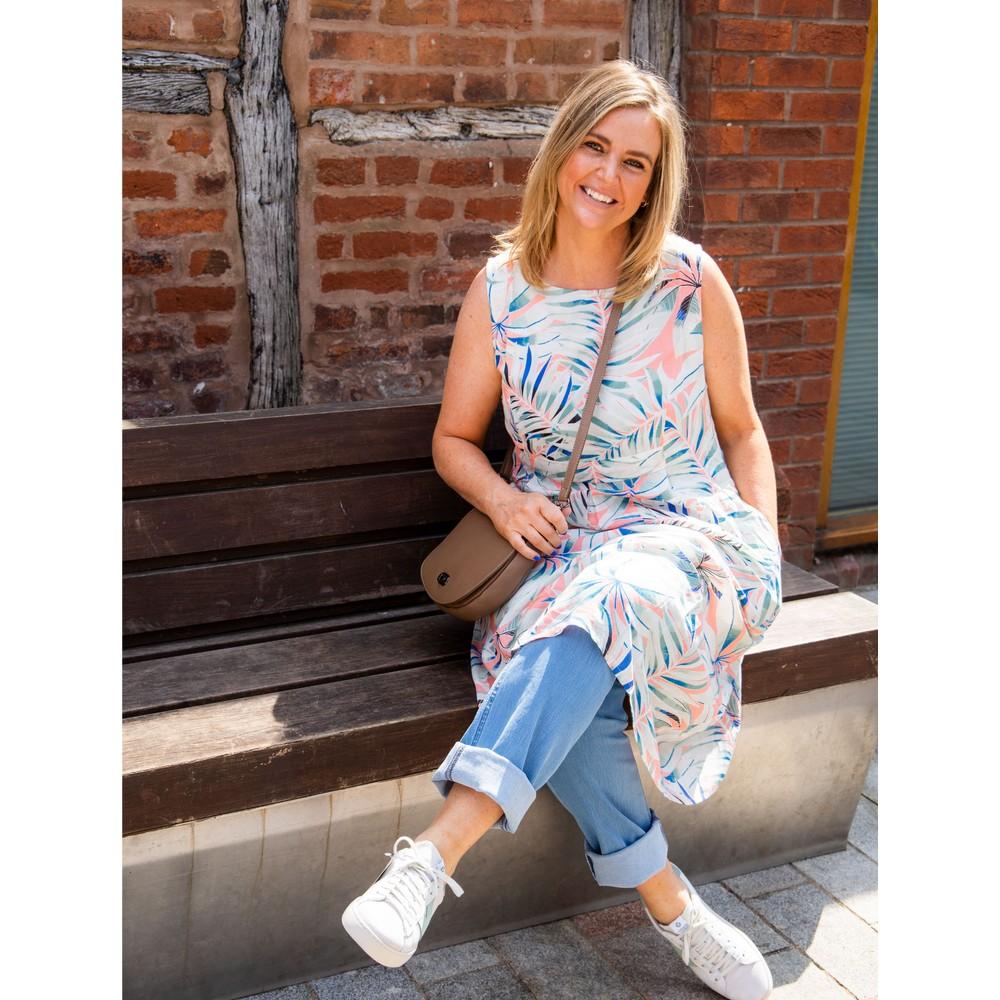 Adini Marin Hothouse Print Dress Melon
