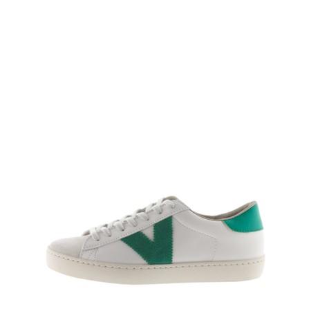 Victoria Shoes Berlin Classic Victoria V Leather Trainer - Green