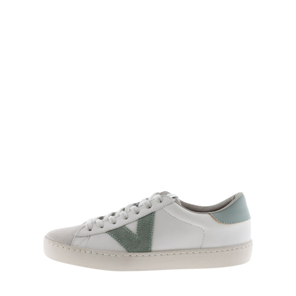 Victoria Shoes Berlin Classic Victoria V Leather Trainer Jade Green