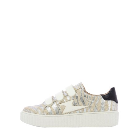 Vanessa Wu Tilda Zebra Lightning Velcro Trainers - Multicoloured