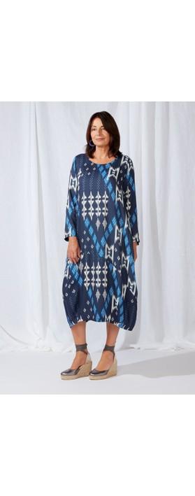 Sahara Borneo Print Bubble Dress Multi