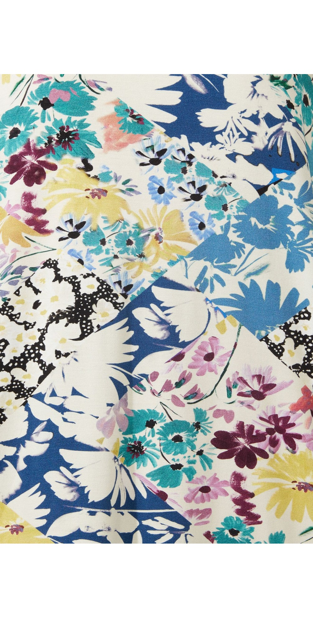 Floral Collage Bubble Dress main image