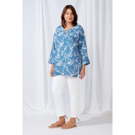 Sahara Vintage Kimono Print Tunic - Multicoloured