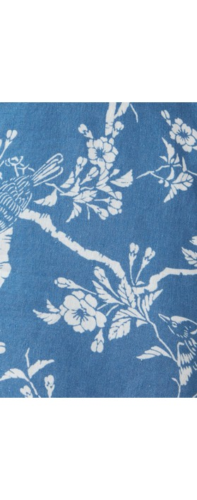 Sahara Vintage Kimono Print Tunic Delft/Porcelain