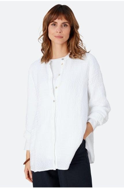 Sahara Waffle Linen Shirt Optic white