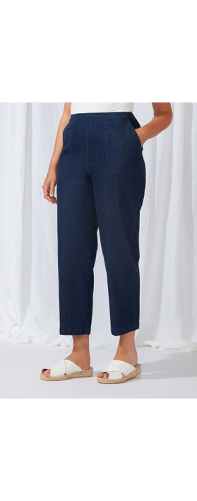 Sahara Stretch Denim Straight Pant Denim