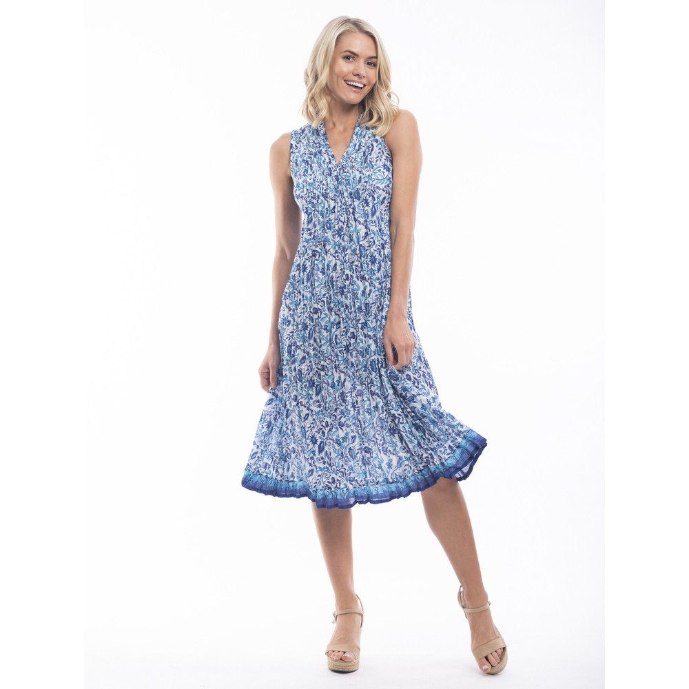 Orientique Tenerife Easyfit Dress Blue White Multi
