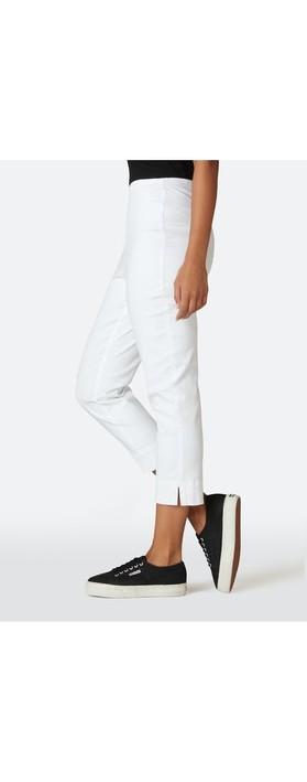 Sahara Stretch Cotton Twill Trouser Optic white