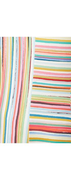 Sahara Multi Colour Stripe Jersey Top Multi