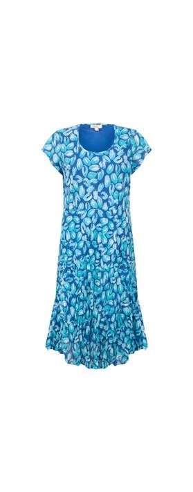 Orientique Las Palmas Midi Dress Blue Aqua Multi B