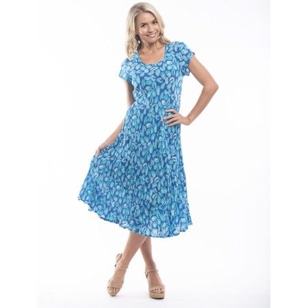 Orientique Las Palmas Midi Dress - Multicoloured