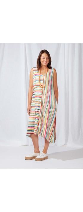 Sahara Stripe Jersey Sleeveless Dress Multi